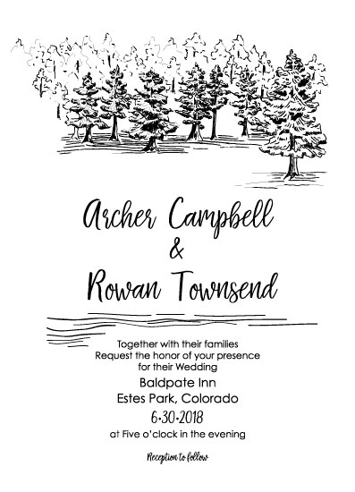 wedding invitations - Rustic Pines by Madrona Press