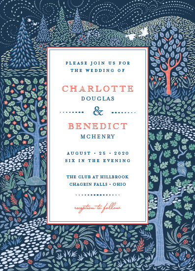 wedding invitations - Woodland Garden by Paper Sun Studio