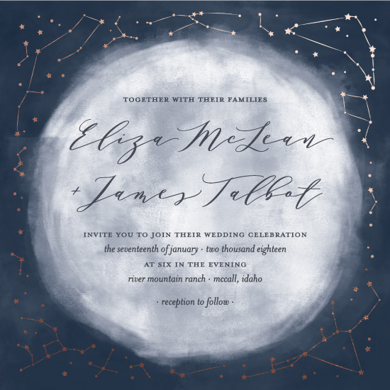 wedding invitations - Stargaze by Lynn and Lou Paper Co