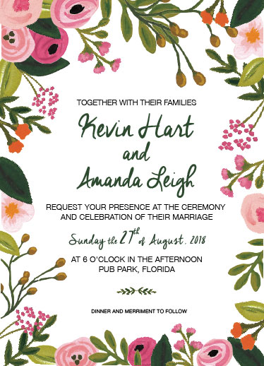 wedding invitations - Festive Floral by Deyas Paper co.