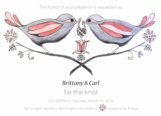 wedding invitations - Love Birds by Stacy Mayou