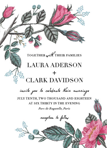 wedding invitations - Birch Floral by Deyas Paper co.