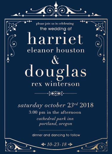wedding invitations - golden age by Kbgamboa