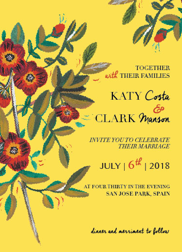wedding invitations - Carmen floral by Deyas Paper co.