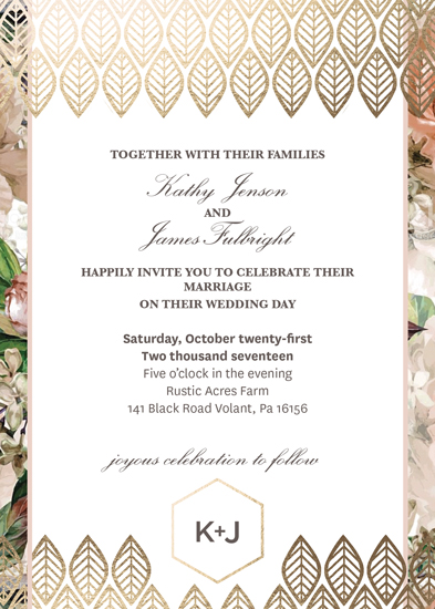 wedding invitations - Geometric Floral by Krisna Poznik