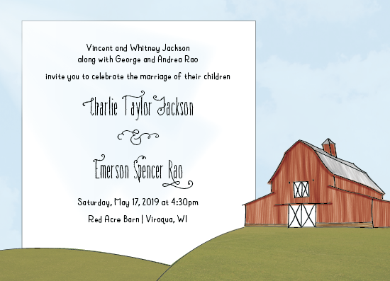 wedding invitations - Barn by Amy Cesal