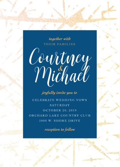 wedding invitations - Wedding in Blue by Tresa Meyer-Clark