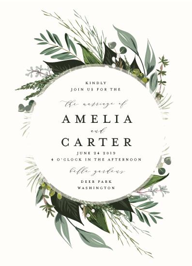 wedding invitations - Natures Greens by Susan Moyal