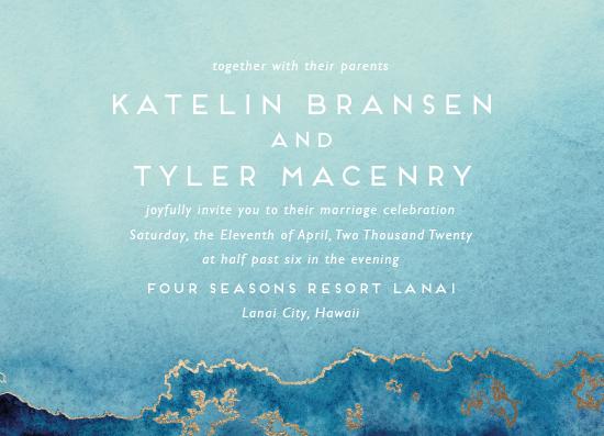wedding invitations - Sea Crest by Kaydi Bishop