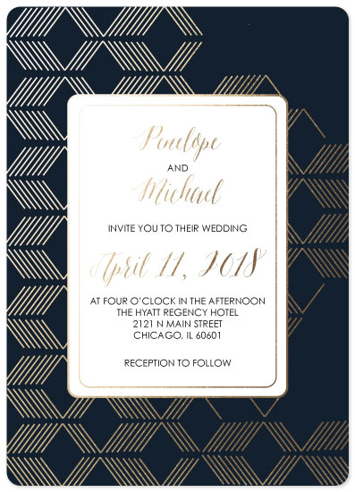 wedding invitations - Geometric magic by Vani K Sobralske