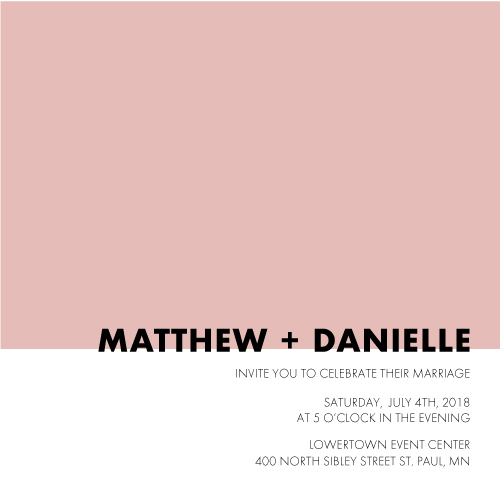 wedding invitations - Color Block Simplicity by Chrissie Parker