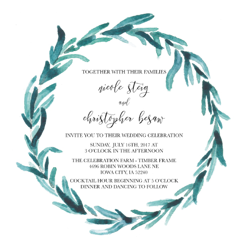 wedding invitations - Boho Greenery by Chrissie Parker