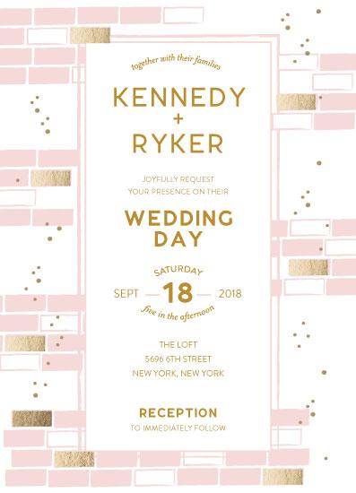 wedding invitations - Brick By Brick by Blair Stratton