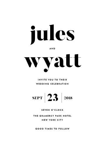wedding invitations - Nolita by annie clark