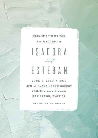 wedding invitations - Painted Sea by Hooray Creative