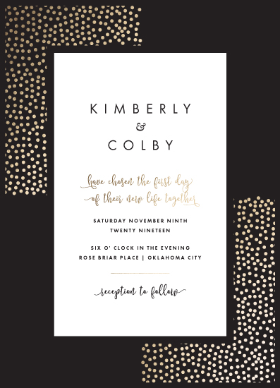 wedding invitations - Sleek Spots by Suzanne Green