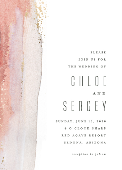 wedding invitations - Painted Desert by Hooray Creative