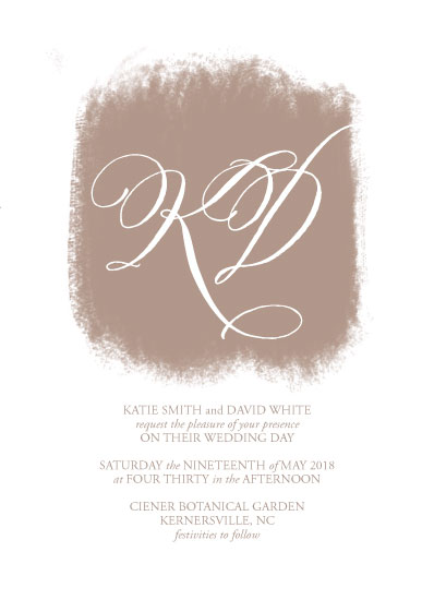 wedding invitations - Rustic Classic by Jamie Schneider
