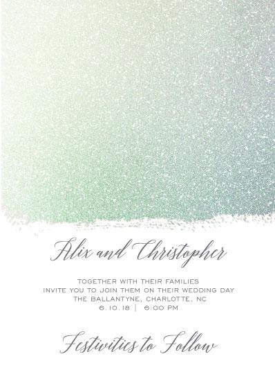 wedding invitations - Rustic Glitter by Jamie Schneider