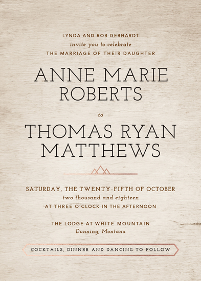 wedding invitations - Autumn in the Mountains by Paper Route Studio