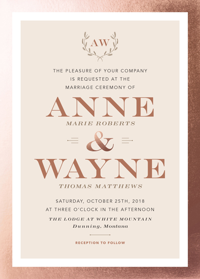 wedding invitations - Rustic Glamour by Paper Route Studio
