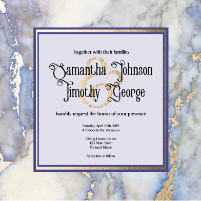wedding invitations - Stone Gold by Theresa Dryer
