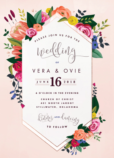 wedding invitations - The florist by Suzanne Green