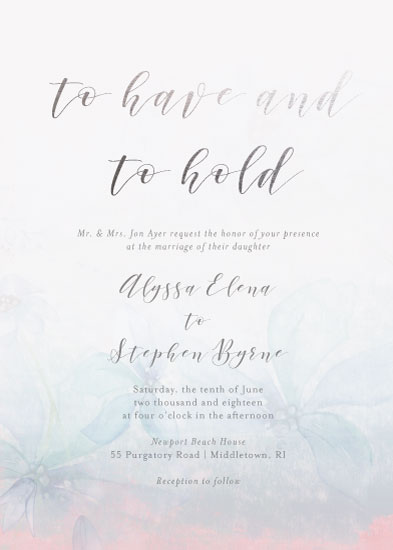 wedding invitations - Have and to hold by Danielle Ellan