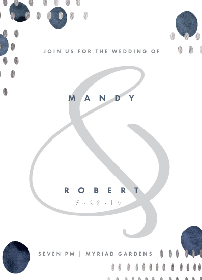 wedding invitations - blue & white space by Suzanne Green