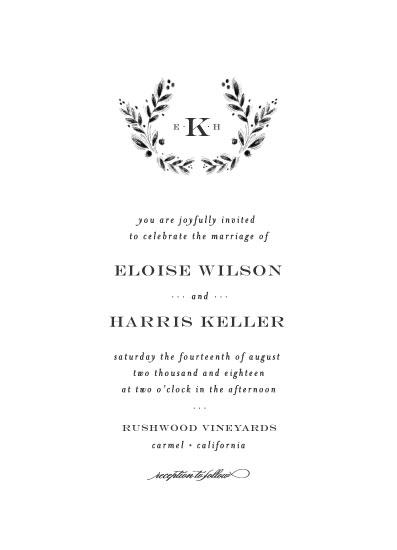 wedding invitations - Rustic Monogram by Bethan