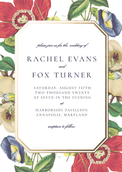 wedding invitations - fleurs by leggs and foster