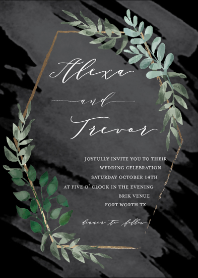 wedding invitations - Modern Greenery by Meri Ashford