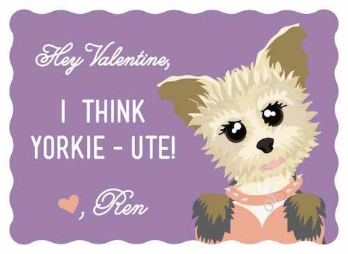 valentine's day - Yorkie-ute! by Natalia