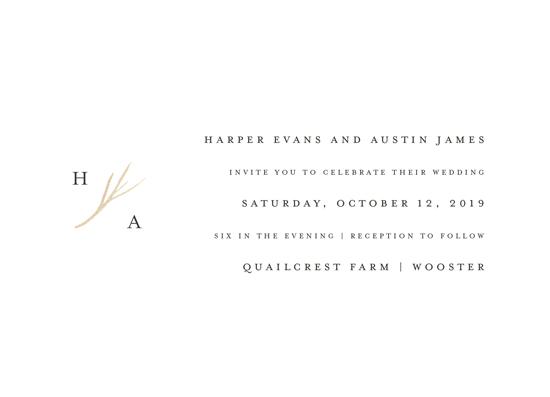 wedding invitations - antler by Robin Ott