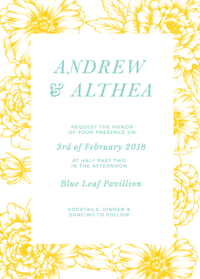 wedding invitations - In love with Peonies by The Artist Scientist