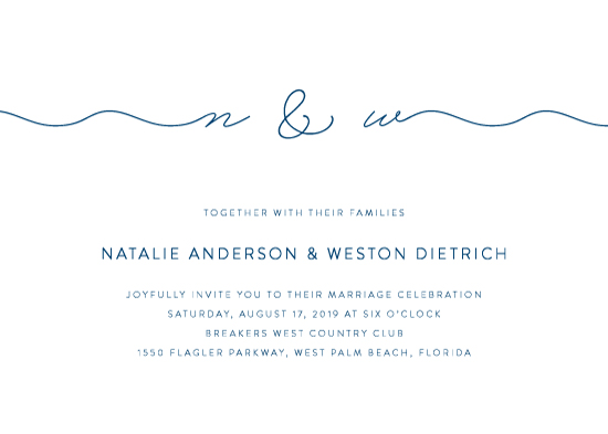 wedding invitations - Swell by Kim Dietrich Elam