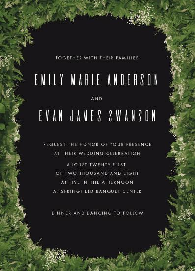 wedding invitations - Fern Wreath by Ilze Lucero