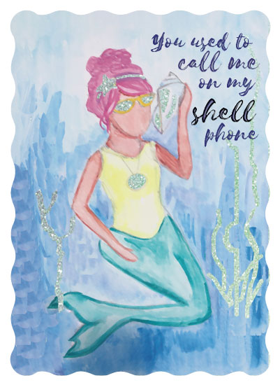 valentine's day - You used to call me on my shellphone by Kendra Stanton Lee