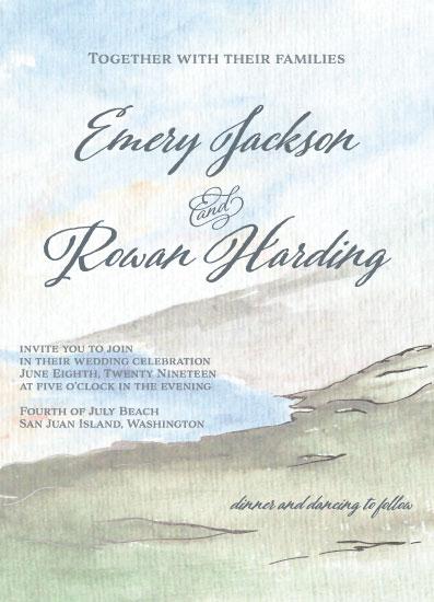 wedding invitations - Coast by Madrona Press
