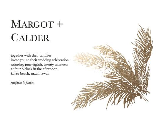 wedding invitations - Modern palm by Madrona Press