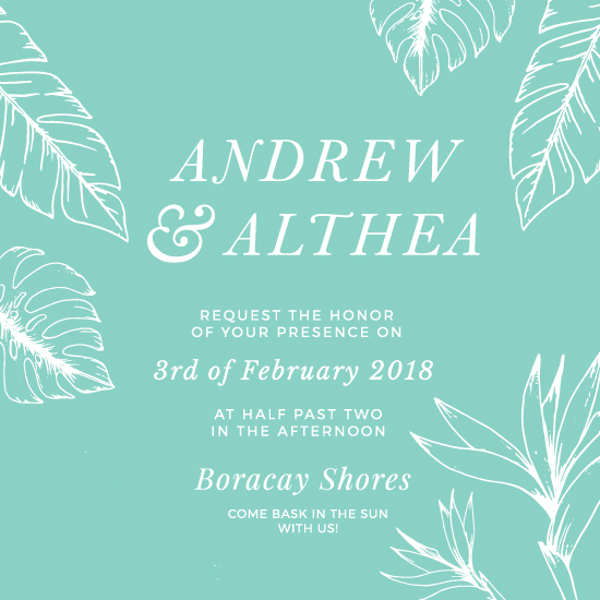 wedding invitations - Touch of Tropic by The Artist Scientist