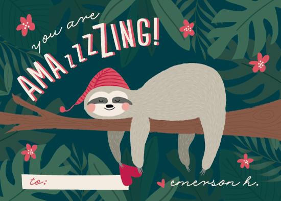 valentine's day - Sleepy Sloth by Joanna Griffin