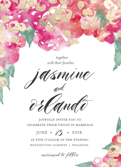 wedding invitations - tropical bougainvillea by pandercraft