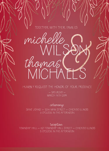 wedding invitations - Beneath the Branches by Theresa Dryer