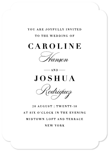 wedding invitations - New Classic by Griffinbell Paper Co.