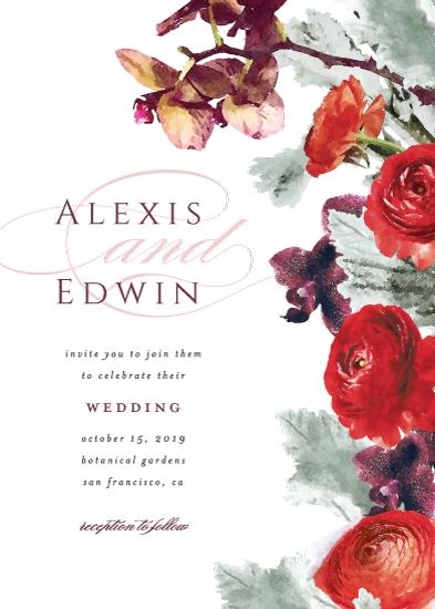 wedding invitations - Autumn Burgundy by Cassandra Imagines