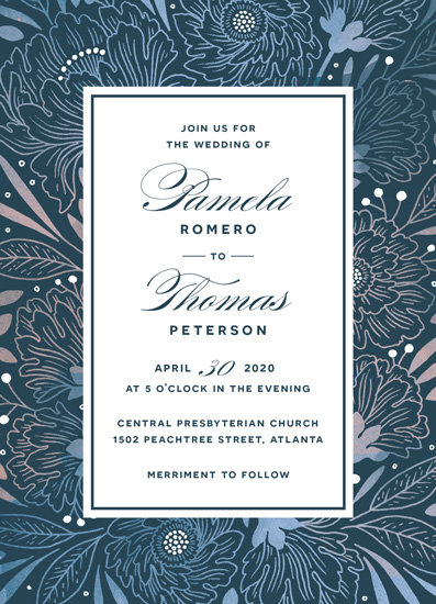 wedding invitations - Lace & Peony by Paper Raven Co.