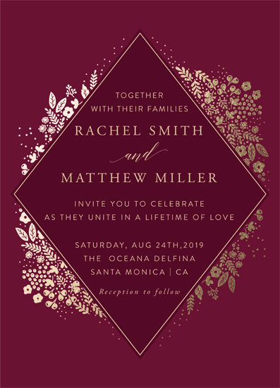 wedding invitations - Millefleur by My Splendid Summer
