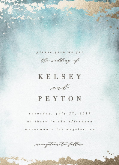 wedding invitations - Ethereal Wash by Everett Paper Goods