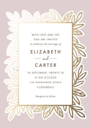 wedding invitations - Luxe Botanicals by Griffinbell Paper Co.